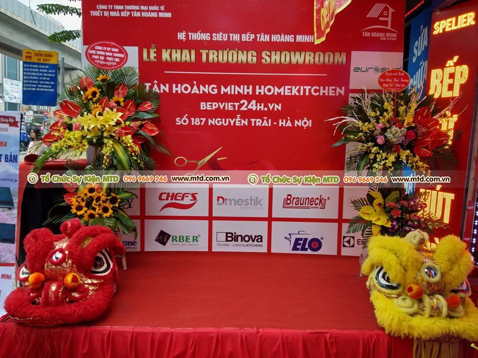 MTD Event tổ chức sự kiện khai trương bếp Tân Hoàng Minh