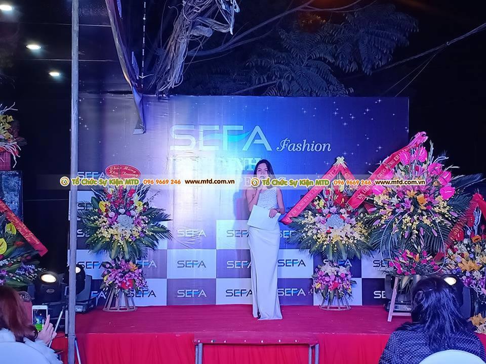 MTD Event tổ chức sự kiện khai trương SEFA Fashion Vân Đình