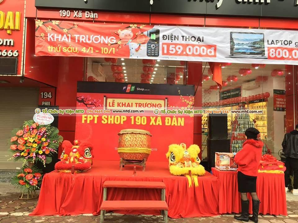 Hình ảnh lễ khai trương FPTshop - 190 Xã Đàn ngày 4/1/2019