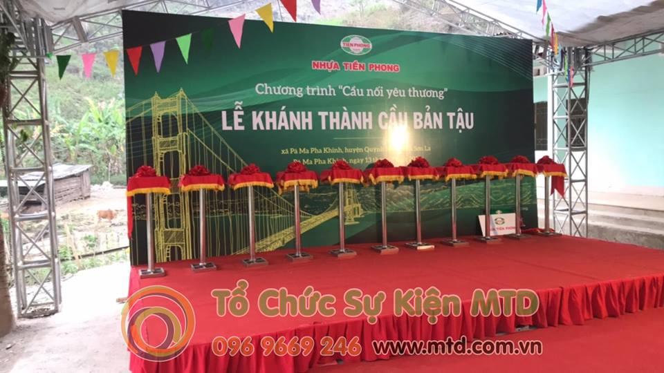 Lễ khánh thành Cầu Bản Tậu được tổ chức bởi MTD Event