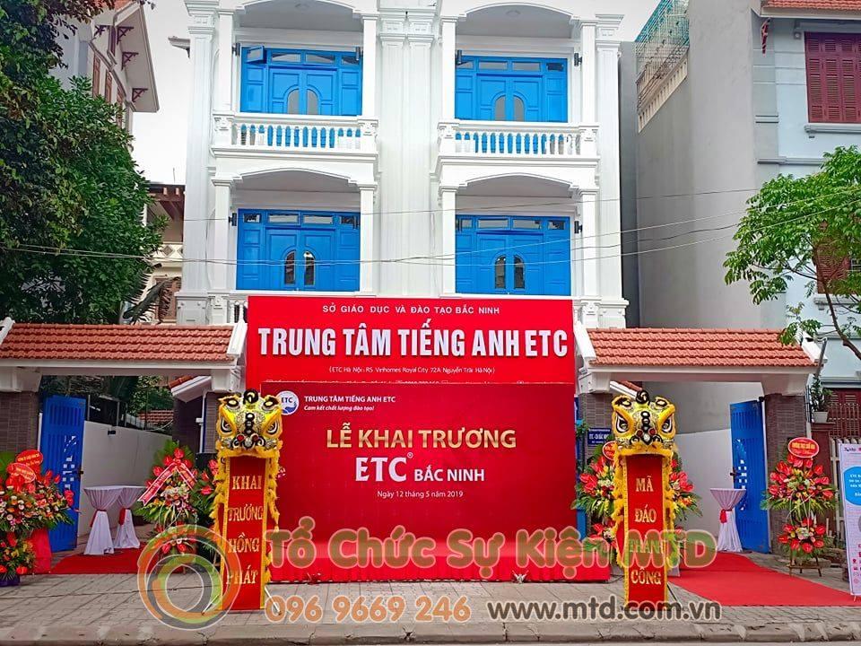 Chùm ảnh buổi lễ khai trương TT Tiếng Anh ETC Bắc Ninh