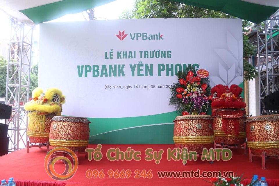Lễ Khai Trương Chi nhánh VPBank Yên Phong - Tổ chức sự kiện MTD