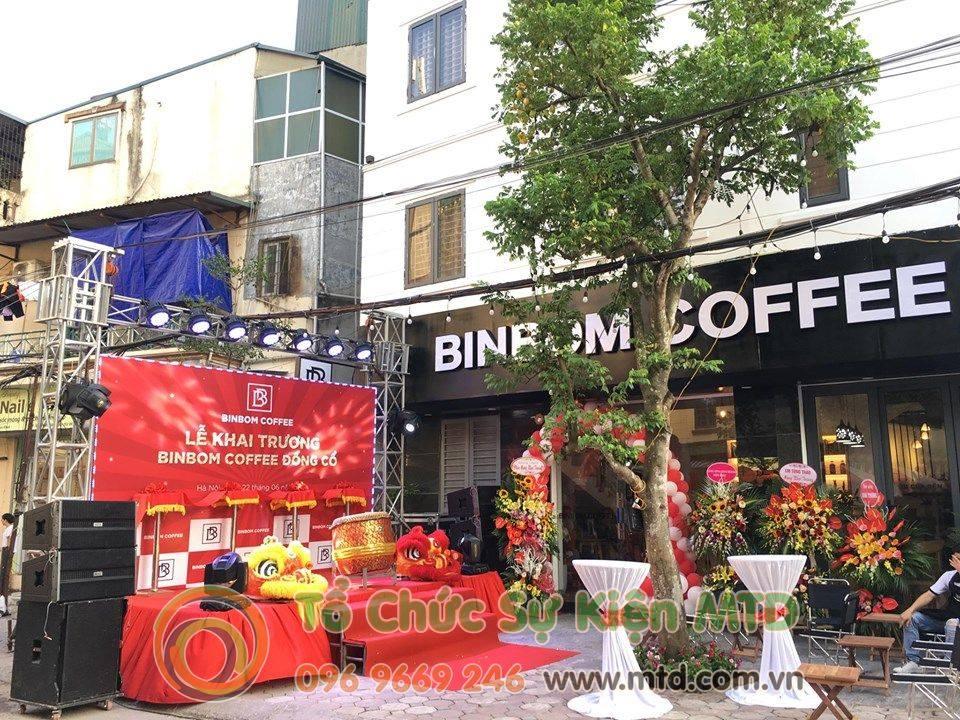 Chùm ảnh Lễ Khai Trương BinBom Coffee Đồng Cổ - MTD Event